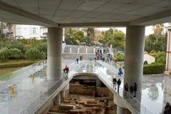雅典,希腊- 2016年12月30日:Acropol的内部看法 免版税库存照片