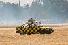 雅典,希腊2015年9月13日 在领域的安全汽车在Tatoi的雅典空气星期飞行展示 库存图片