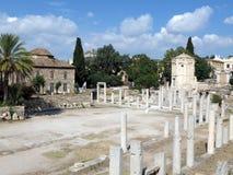 雅典,废墟的美丽的景色 免版税库存照片