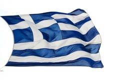 雅典-希腊-旗子 免版税库存图片