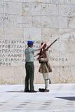 雅典更改的卫兵 免版税库存图片