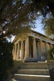 雅典hephaestus寺庙 免版税库存照片