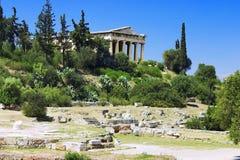 雅典hephaestus寺庙teseyon 免版税库存图片