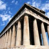 雅典hephaisteion寺庙 库存照片