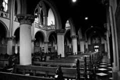 雅加达圣母升天主教座堂内部和博物馆在雅加达,印度尼西亚 免版税库存照片