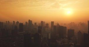 雅加达地平线惊人的空中风景  股票视频