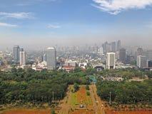雅加达地平线 免版税库存照片