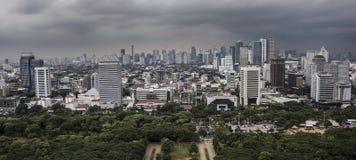 雅加达市全景 免版税库存图片