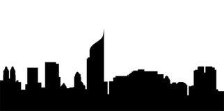 雅加达市地平线 免版税图库摄影