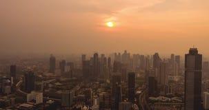 雅加达市空中时间间隔日落时间的 影视素材