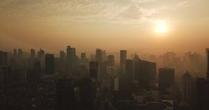 雅加达市空中英尺长度日出的 影视素材