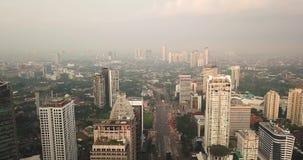 雅加达市空中英尺长度苏迪曼的CBD 股票录像
