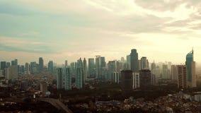 雅加达市视图Timelapse英尺长度  股票录像