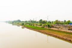 雅加达运河 库存图片