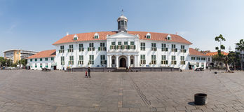 雅加达,印度尼西亚-大约2015年10月:雅加达历史博物馆,以前Stadhuis在老镇雅加达 免版税库存照片