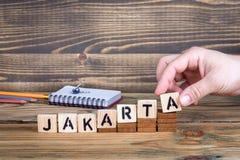 雅加达,许多数百万人居住的城市印度尼西亚 免版税库存照片