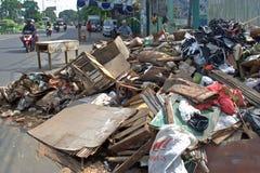 雅加达破坏 免版税图库摄影