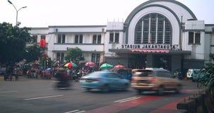 雅加达Kota火车站的停止运动 股票录像