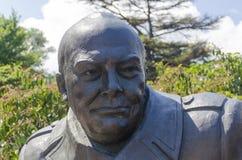 雅尔塔,俄罗斯- 7月3 :纪念碑的开头 库存照片