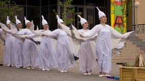 雅库特地区女性舞蹈 免版税库存图片