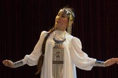 雅库特地区女性 免版税库存图片