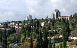从雅法门的耶路撒冷视图 免版税库存图片