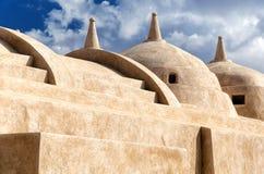 雅米AlHamoda清真寺在Jalan巴尼Bu阿里,阿曼苏丹国 免版税库存图片