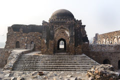 雅米Masjid在Feroz Shah Kotla 库存图片