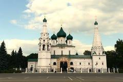 雅罗斯拉夫尔市是其中一个最旧的俄国城市,建立在XI世纪 伊莱贾教会先知在雅罗斯拉夫尔市在夏天 库存照片