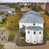 雅罗斯拉夫尔市是其中一个最旧的俄国城市,建立在XI世纪 博物馆储备雅罗斯拉夫尔市克里姆林宫 从响铃的看法 免版税库存图片