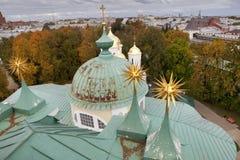 雅罗斯拉夫尔市是其中一个最旧的俄国城市,建立在XI世纪 博物馆储备雅罗斯拉夫尔市克里姆林宫 从响铃的看法 免版税图库摄影
