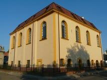 雅罗斯瓦夫,波兰城市viev在雅罗斯瓦夫 老犹太教堂 库存图片