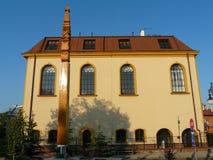 雅罗斯瓦夫,波兰城市viev在雅罗斯瓦夫 老犹太教堂 免版税库存照片