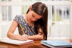 集中于家庭作业 库存图片