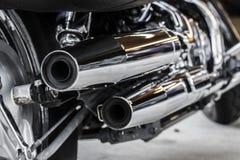 Chrome排气管 库存图片