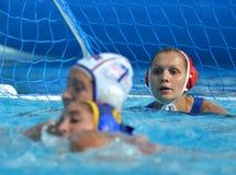 集中于KARNAUKH安娜(鲁斯, 13)俄国守门员 免版税库存图片