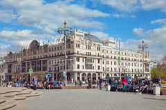 集中五旅馆metropol莫斯科方形星形剧院视图 从的看法 库存照片