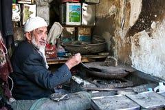 集中厨师萨纳也门 免版税图库摄影