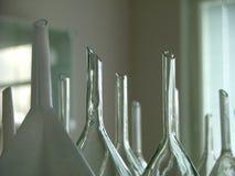 集中向上的玻璃 库存图片