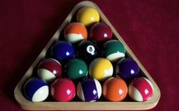 集中的球八 免版税库存照片