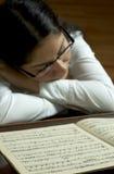 集中钢琴演奏家 免版税库存照片