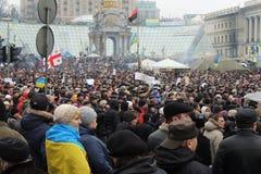 集会在Kyiv。 库存照片