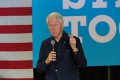 集会的前总统比尔・克林顿希拉里的 免版税库存照片