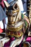 集体古色古香的木马 免版税库存图片