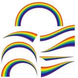 集合不同的形状彩虹的例证 库存例证