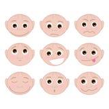 集合不同的情感 免版税库存照片