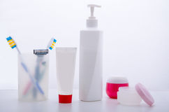 集合个人卫生产品 库存照片