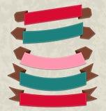 集合五颜六色的丝带,各种各样的形式 库存例证