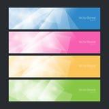 集合五颜六色的多角形横幅,传染媒介 免版税库存图片