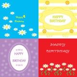 集合五颜六色的问候生日快乐 免版税库存图片